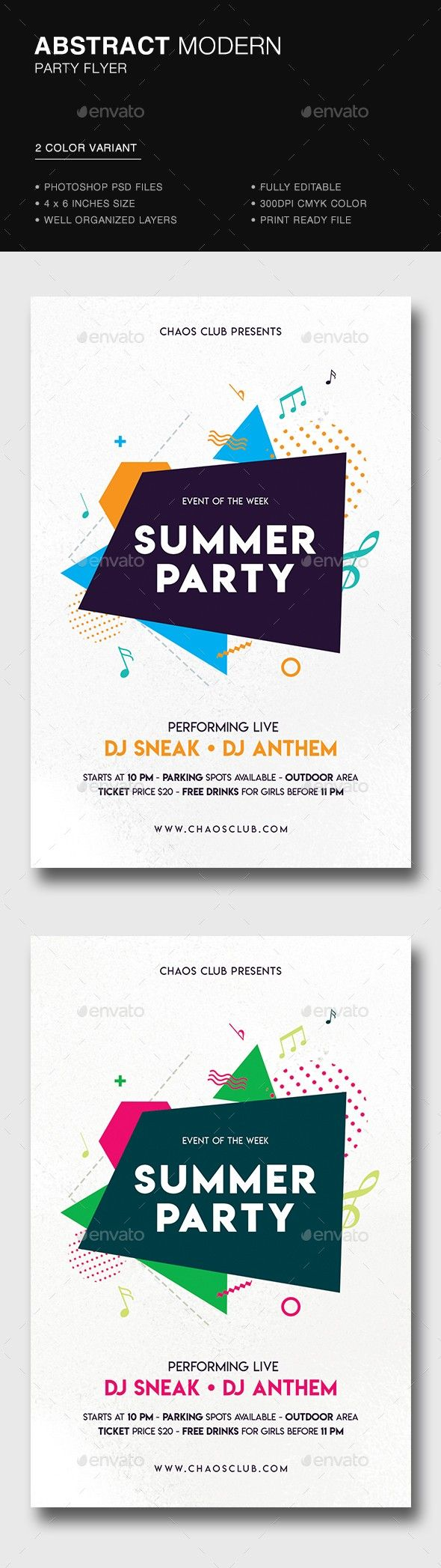 4x6 abstract abstract flyer advertising clean club clubbing
