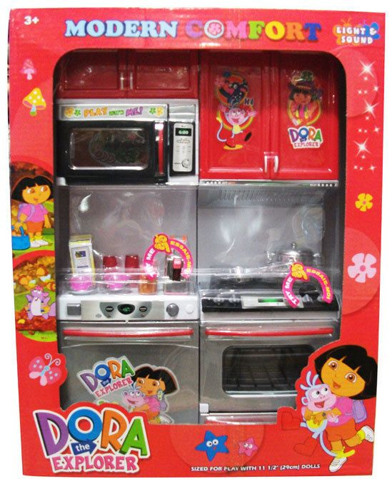 Dora The Explorer Kitchen Set Light Sound Toy Gift For Kids