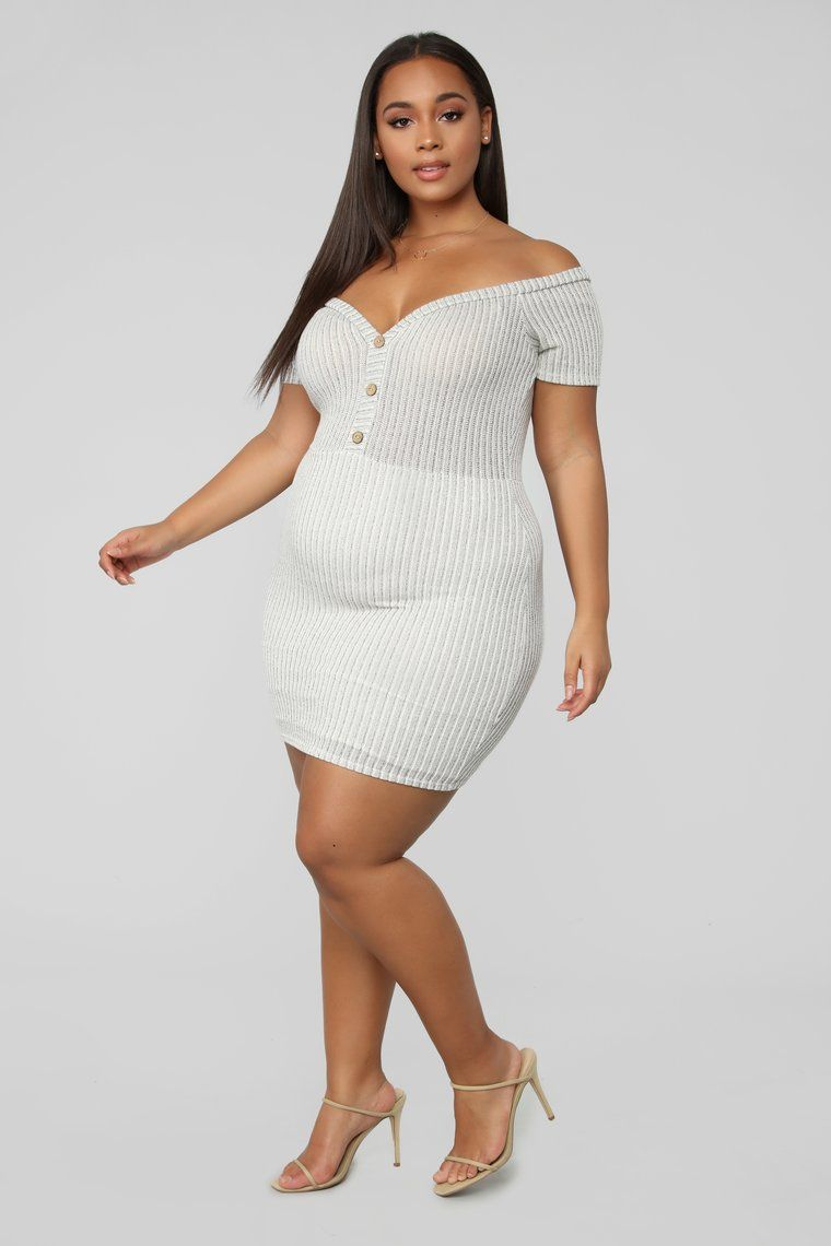 Comfortably Cute Ribbed Mini Dress Oatmeal Dresses