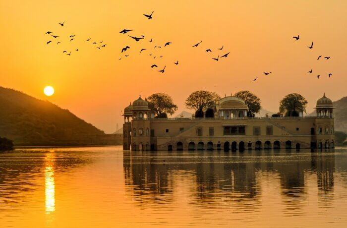 Image result for Sunset at Jal Mahal