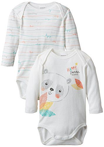 Absorba Underwear 6G60006-EC - Body - Imprimé - Lot de 2 - Mixte bébé