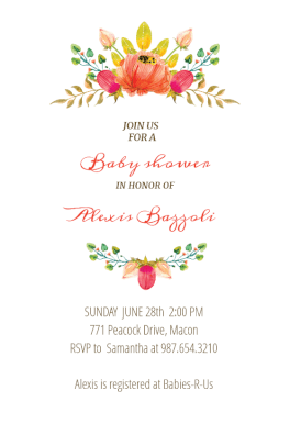 Flowers Crown   Free Printable Baby Shower Invitation Template | Greetings  Island
