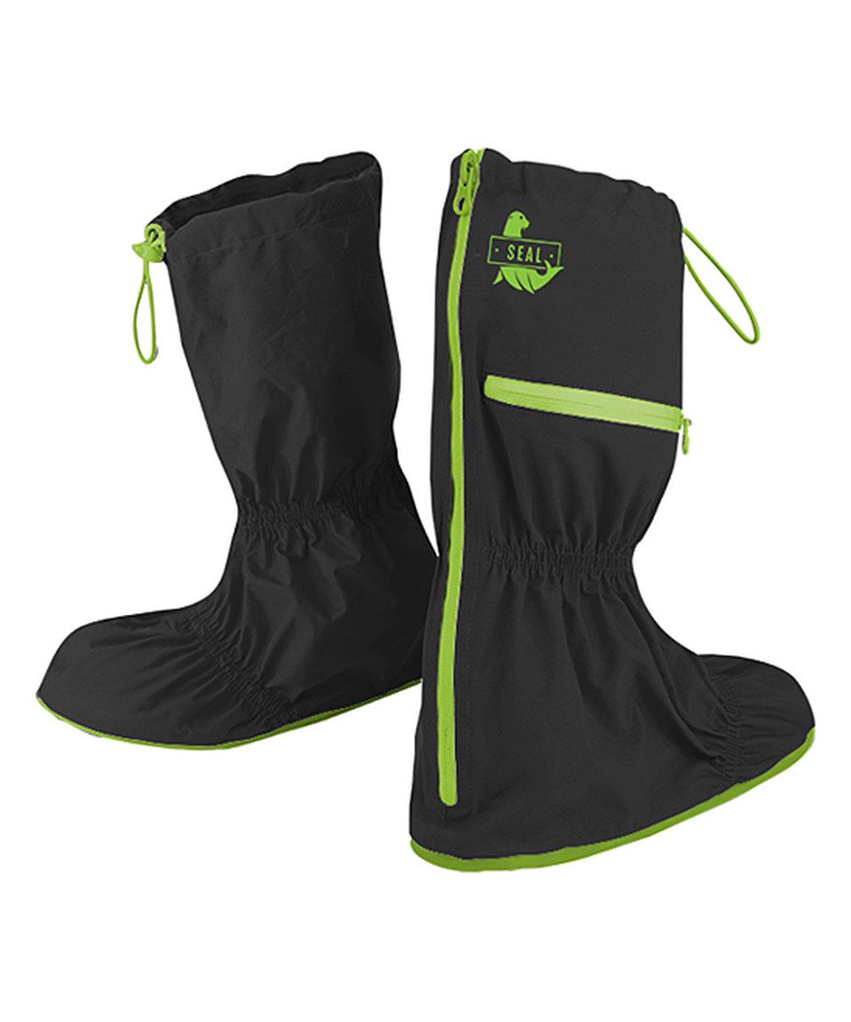 Another great find on #zulily! Black Zip-Up Shoe Cover - Women by Seal Shoe Covers #zulilyfinds