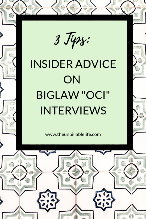 Three Pieces of OnCampus Interview (OCI) Advice From a