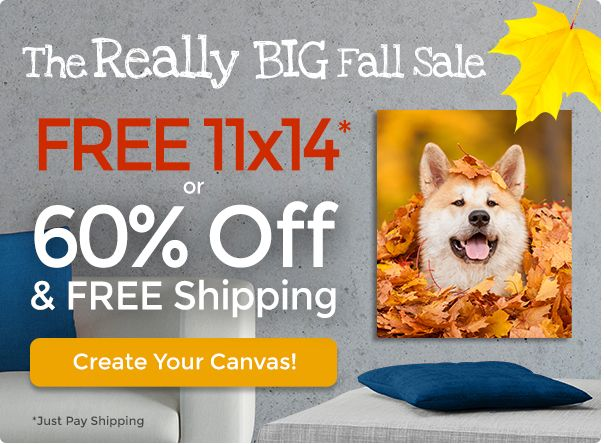 Canvas People is offering a Free 11×14 Custom Photo Canvas for a limited time—just pay the $18.95 shipping fee.