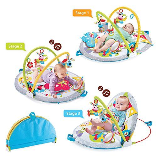 Yookidoo Gymotion Lay to Sit-Up Play Mat Infant Activity ...