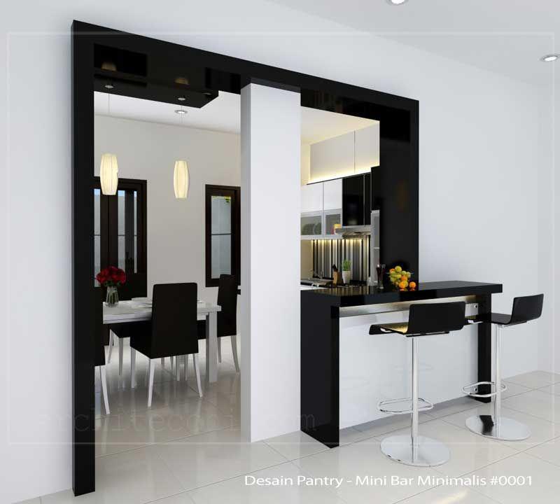 Arsitek Desain Interior Desain Pantry Mini Bar Minimalis