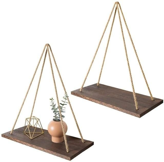 17+ Wooden Wall Hanging Plant Stand   Carbonized