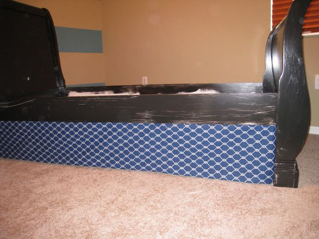 Mommy S Idea Notebook No Sew Bed Skirt Sleigh Bedsbed