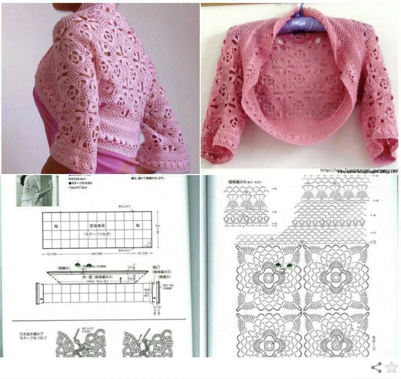 Crochet patterns: Free Crochet Charts for Two Summer Shrugs - Which ...