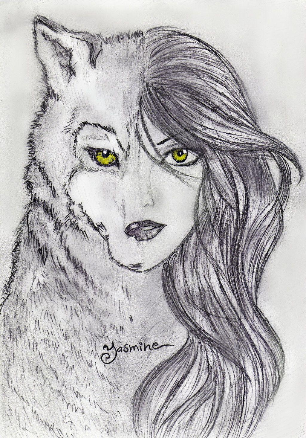Werewolf Drawings Teenage Girl