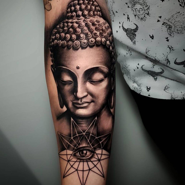 A Pristine Black And Grey Buddha By Poly Tayyip Ig