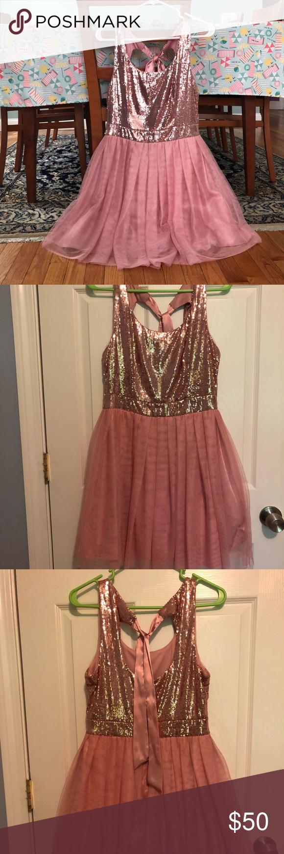 B darlin pink sequined aline homecoming dress my posh picks