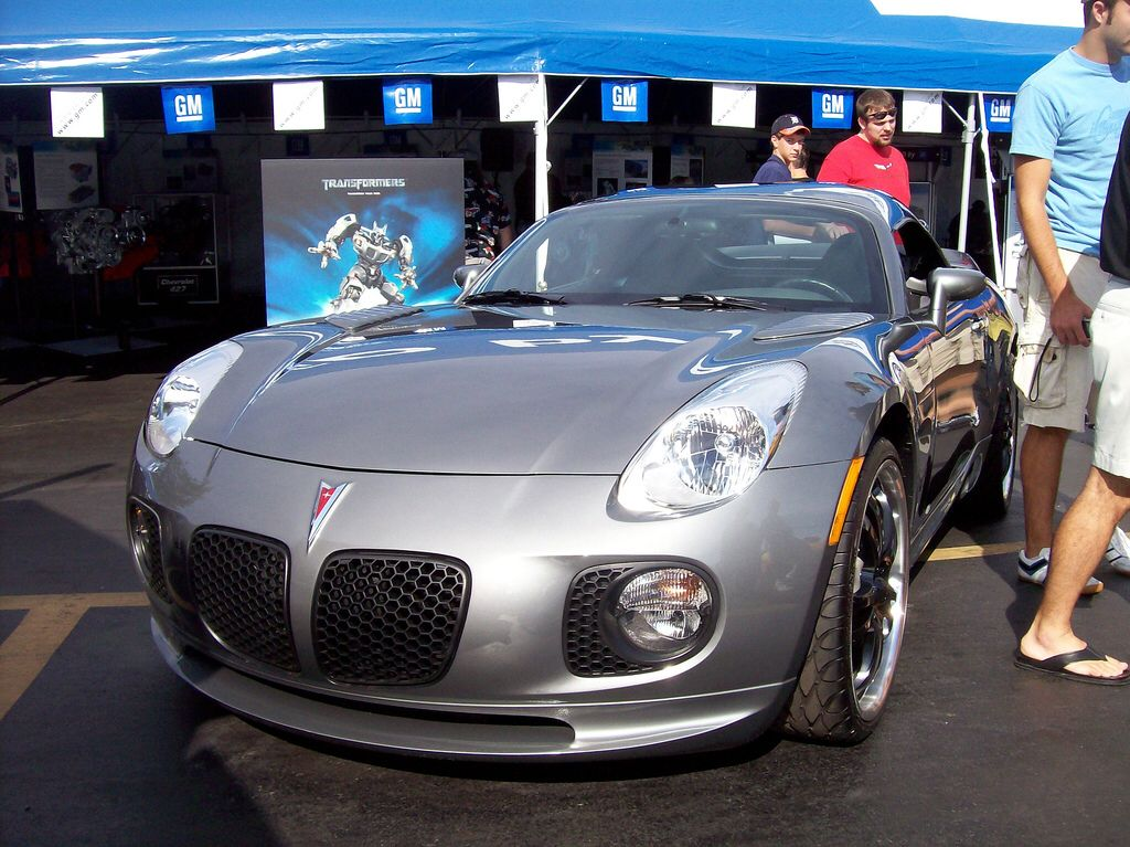 the jazz pontiac solstice from the transformers movie