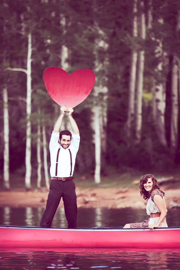 Too cute. #engagement photos #photoideas #photoprops