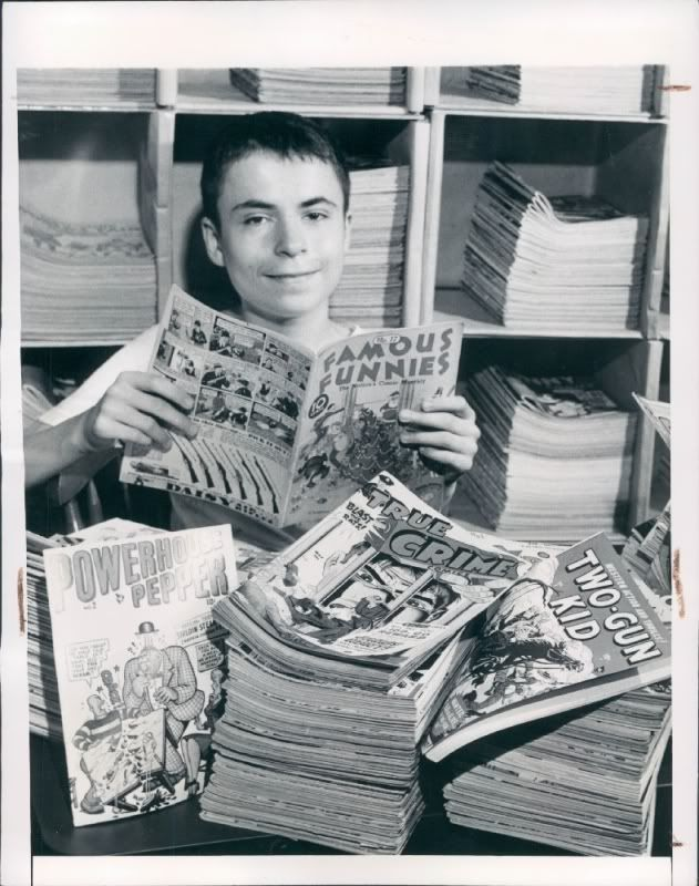 A young comic collector in 1948.