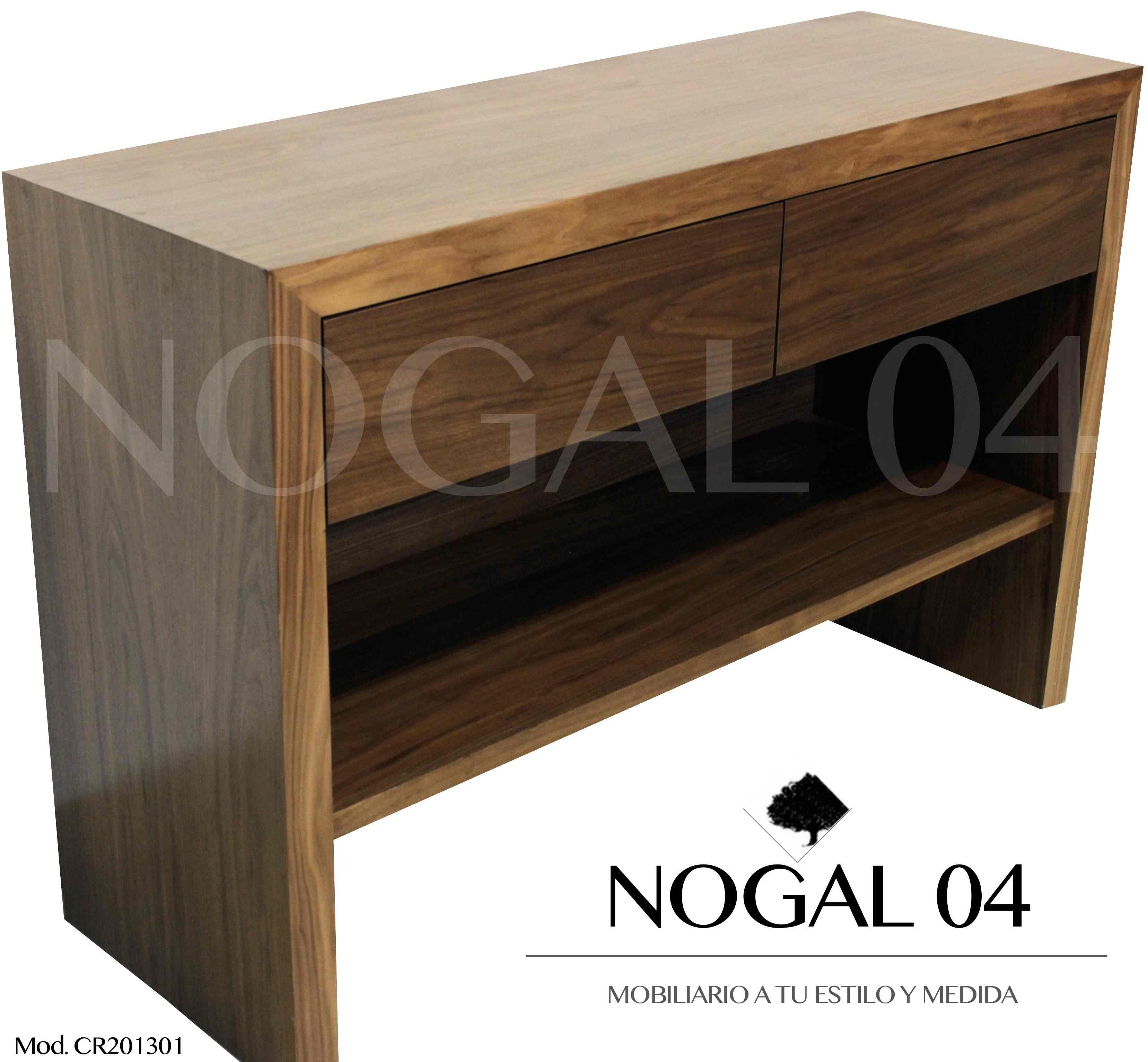 Credenza para Recibidor en madera de Nogal, acabado semi mate ...
