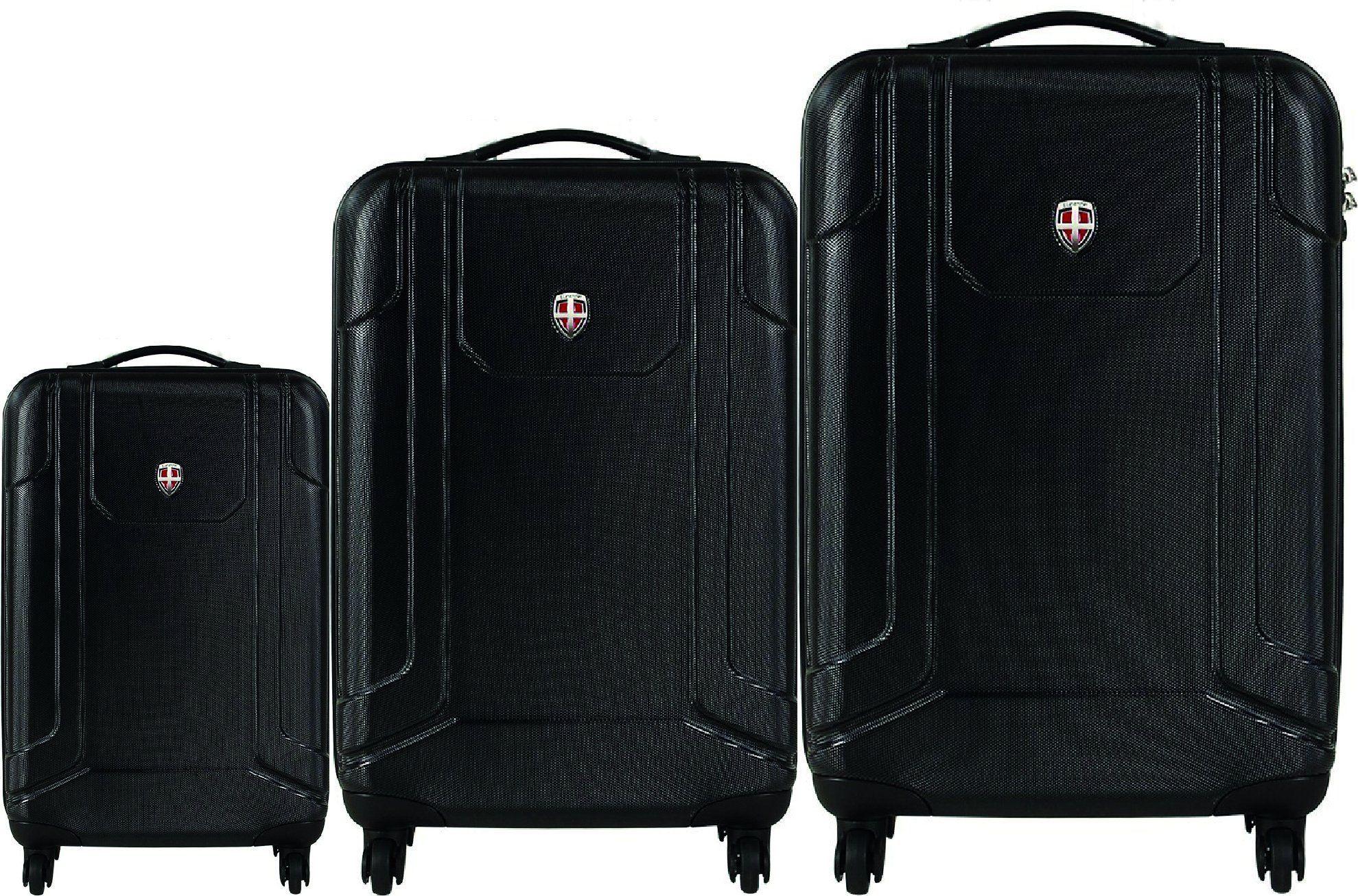 c2cb9959dbd3 Ellehammer Reykjavik 3 Part Spinner Trolley Set Hard Shell Including Cabin  Size (Black)  Amazon.co.uk  Luggage £399.99 reduced to £199.98