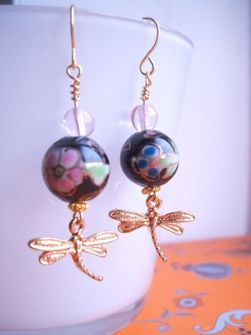 Don't Be Shy Dragonfly earrings by Storm in a Teacup. £12.50