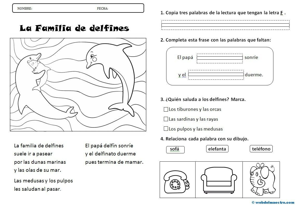 Lectura Comprensiva Archives Página 2 De 3 Web Del Maestro Spanish Writing Writing School