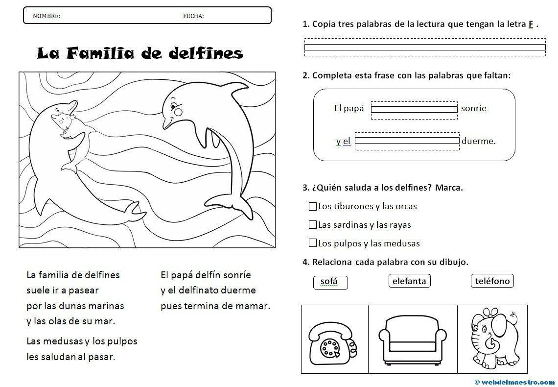 Lectura Letra F Actividades De Comprension Lectora