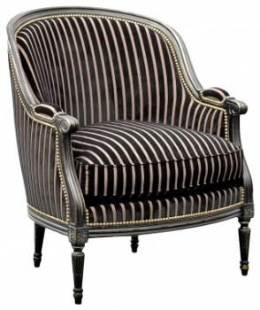 Louis Xvi Gondole Wing Chair Classic Furniture Armchair Upholstered Chairs