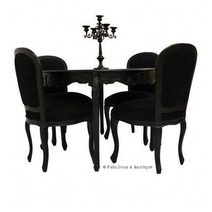 Cherise 48 Round Dining Table 4 Chairs Black My Dream Home