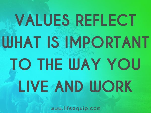 Values Reflect What Is Important