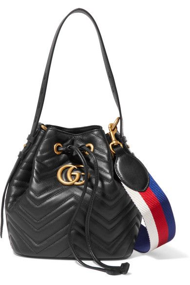 5dfc2cf21a Gucci - GG Marmont quilted leather bucket bag in 2019 | Bags ...