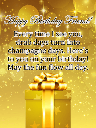 Sparkle Glamorous Happy Birthday Images : sparkle, glamorous, happy, birthday, images, Golden, Sparkle, Happy, Birthday, Friends, Greeting, Cards, Davia, Friends,, Cards,