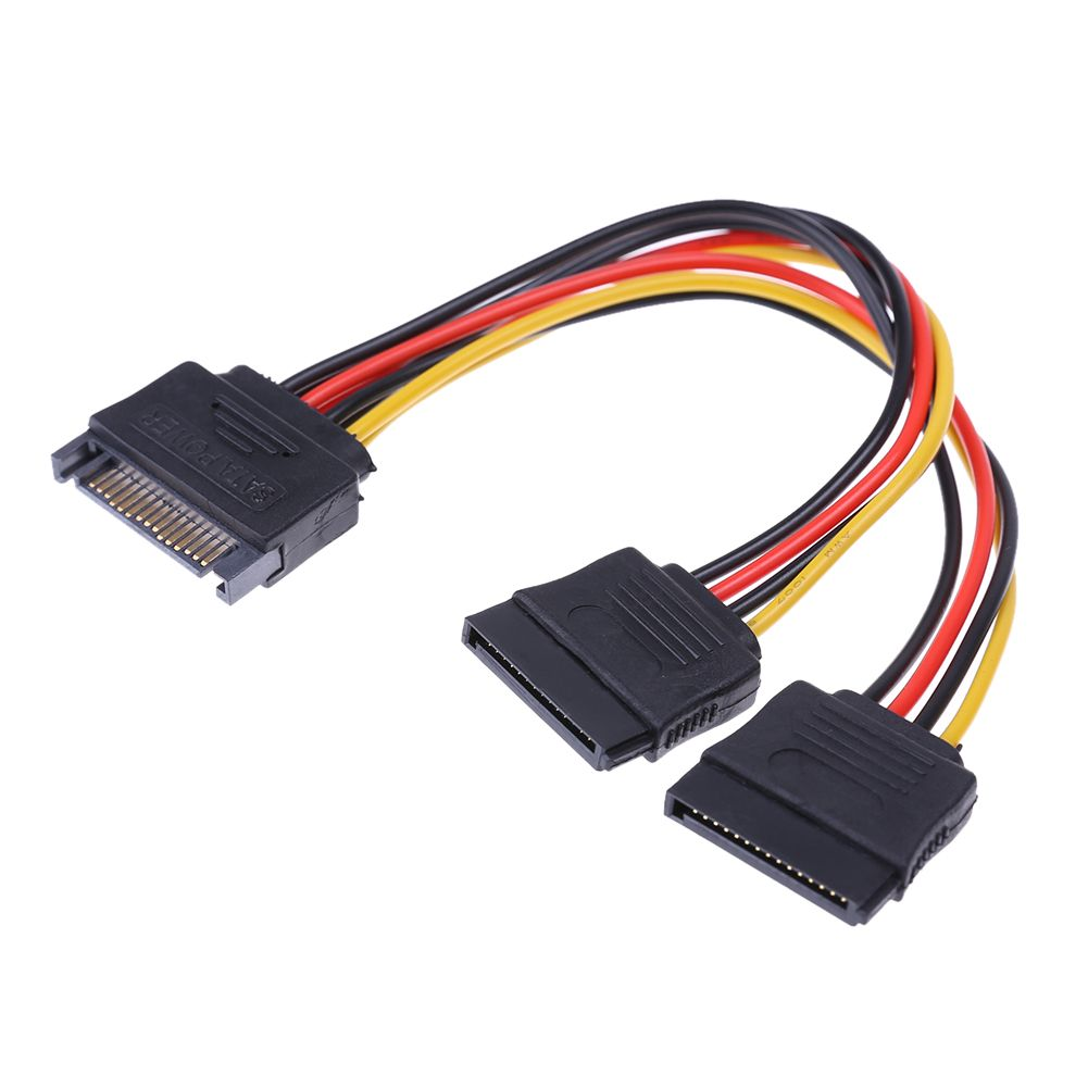 PC Server Computer Hard Drive 15Pin SATA 1 Male to 3 Female Splitter Power Cable