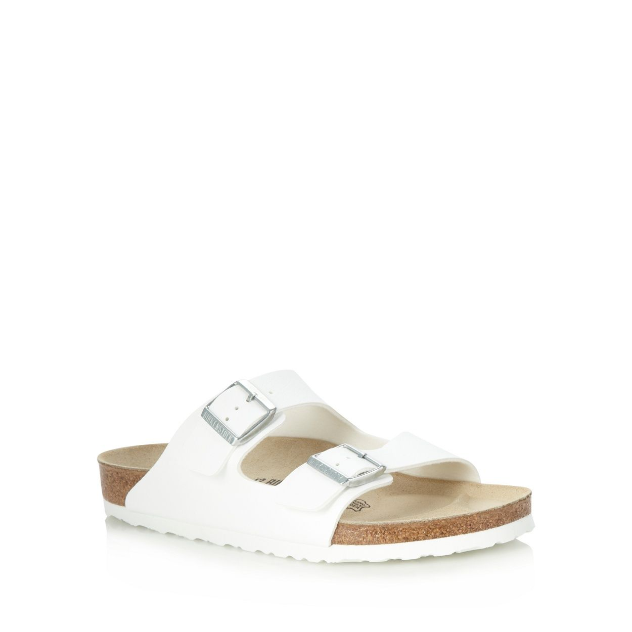 Birkenstock White 'Arizona' sandals