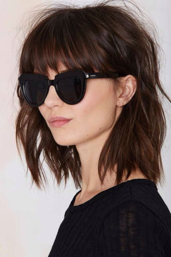 Women's bob haircut