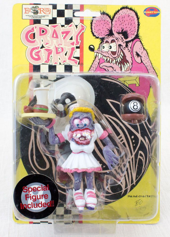 RAT FINK Action Figure Series Crazy Girl Planet Toys Art Storm 1998 JAPAN