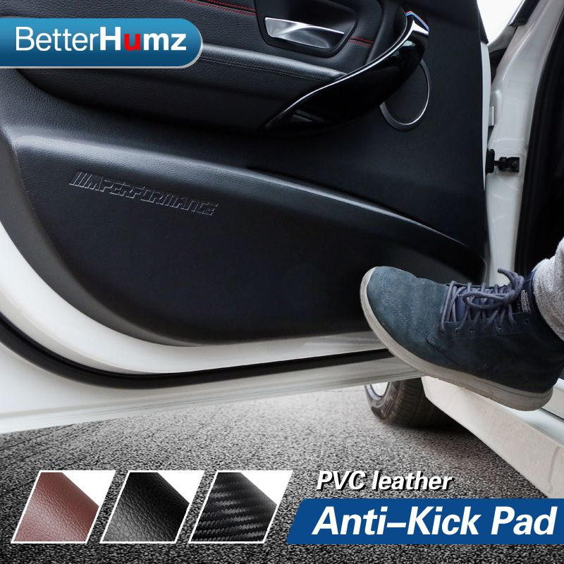 車のドア抗キックパッドステッカー超薄型レザーpvcドア保護サイド