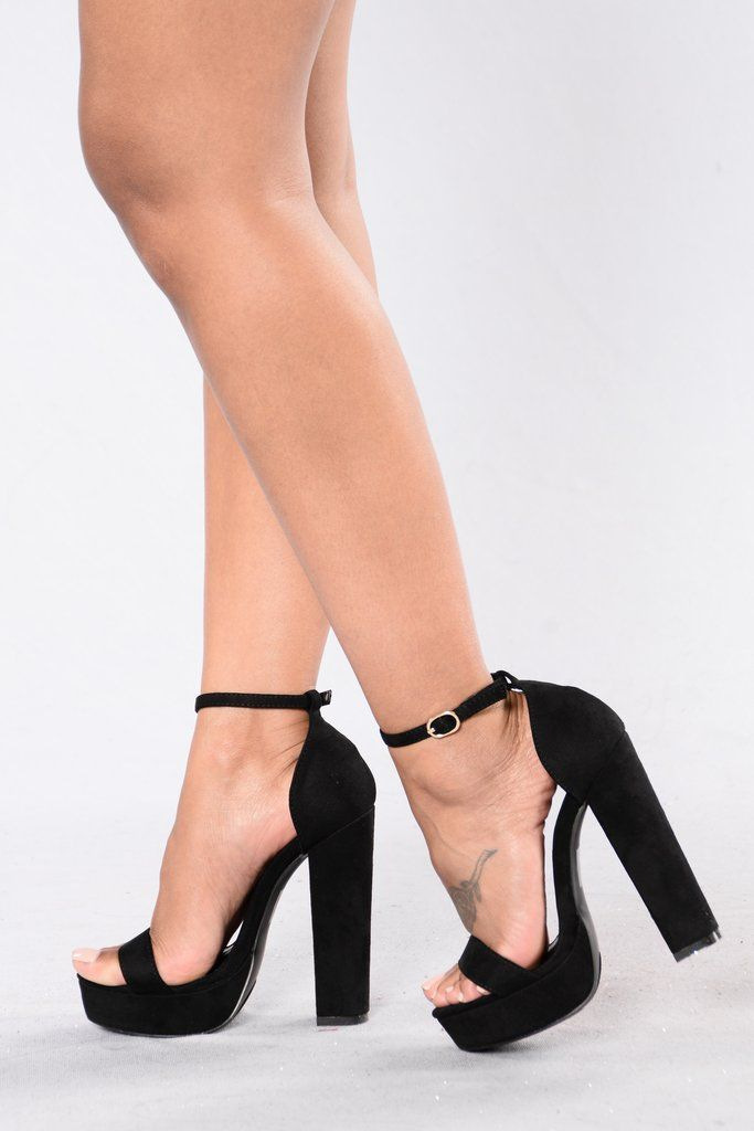 Maggie Heel - Black | Ankle straps, Ankle and Black