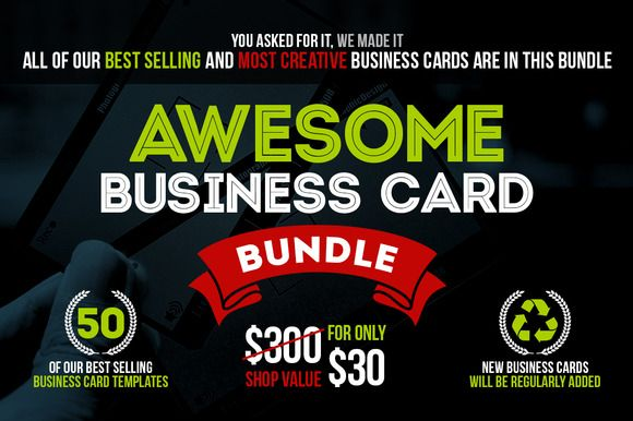 Modeles Gratuits De Cartes Visite Dimpression Awesome Business Card Bundle 50 PSD By Marvel On Creative Market