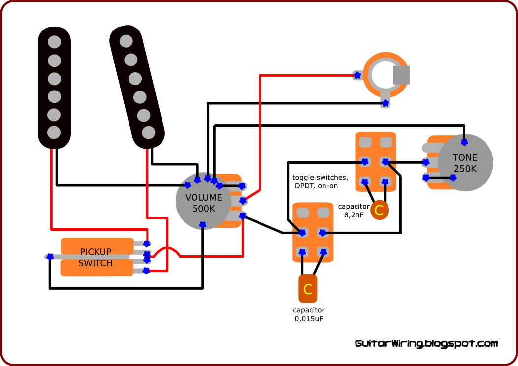4dbfd639143be9303e2f6ef301c173ee electric guitar pot wireing diagram diagram wiring diagrams for 2 Pickup Guitar Wiring at n-0.co