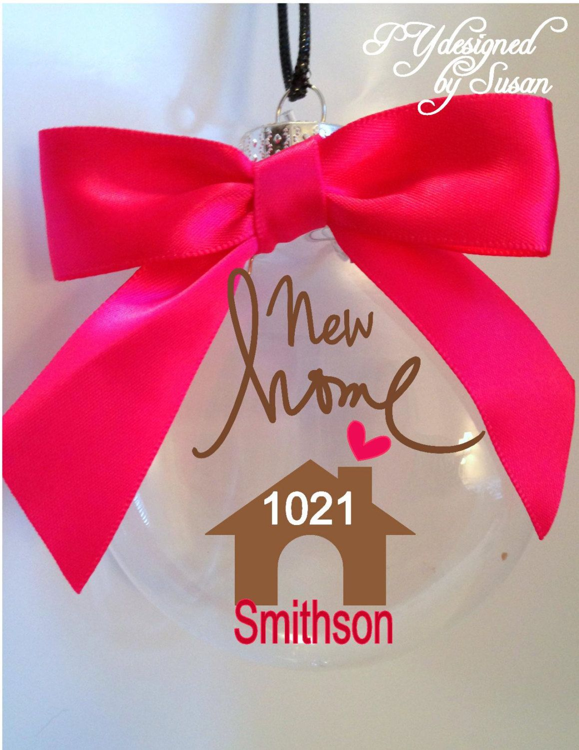New home ornaments personalized - New Home Ornament Christmas Personalized With Gift Box By Pydesigned On Etsy