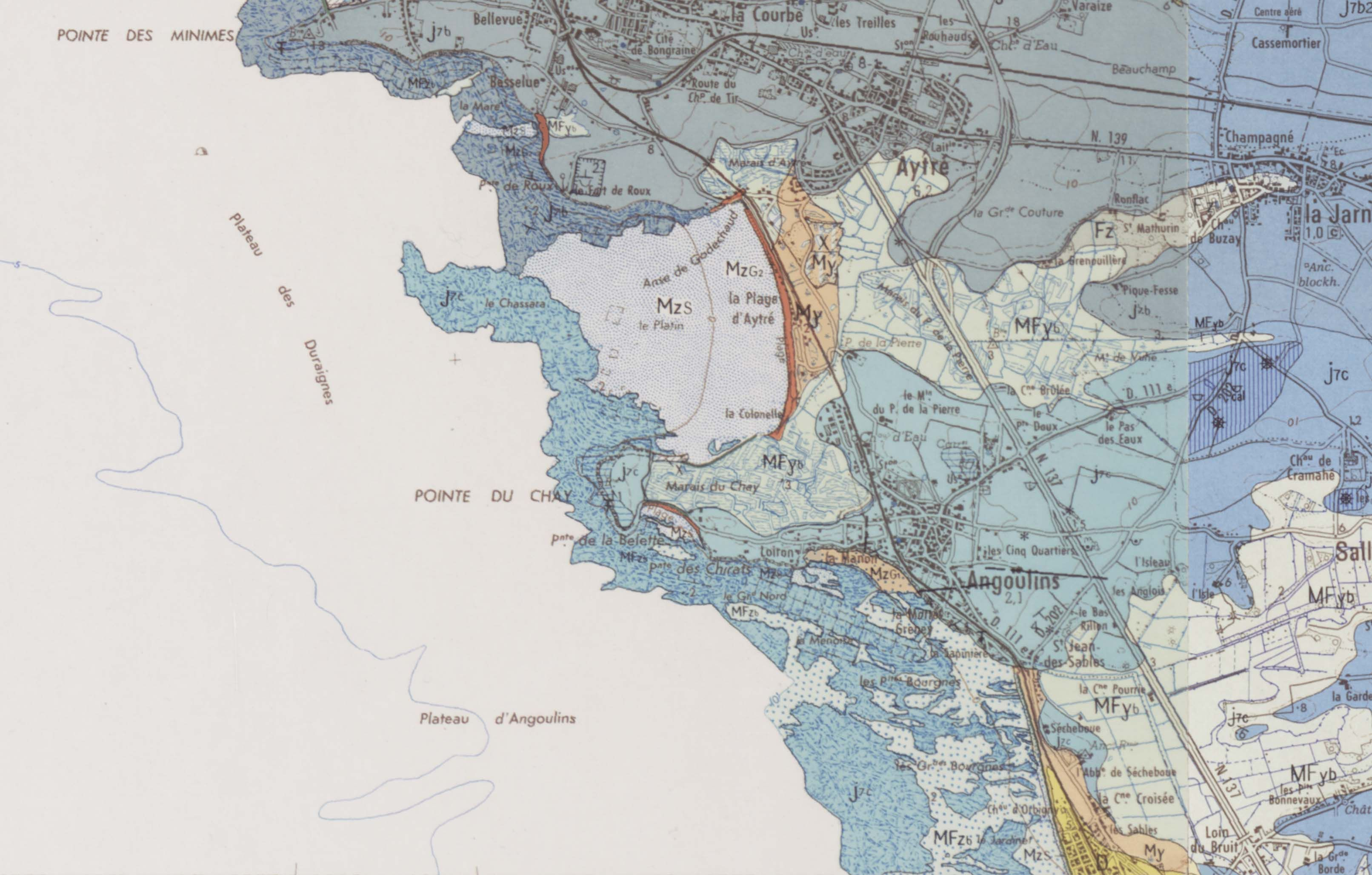 Carte Geologique Angoulins Mer Carte Geologique Carte Geologie
