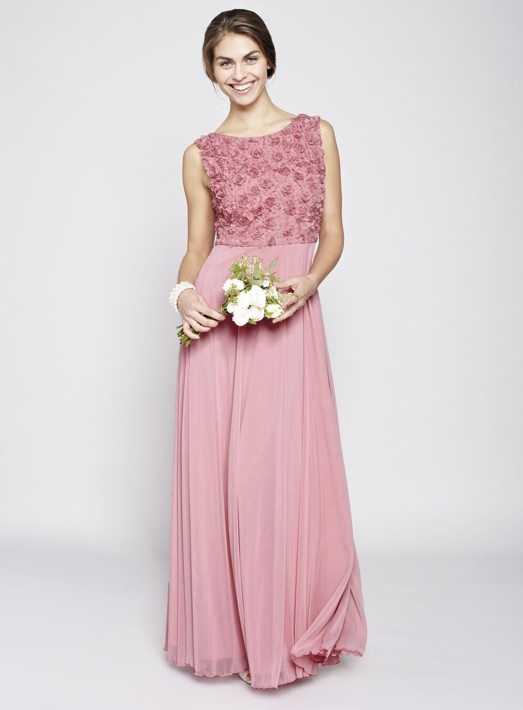 Rose Pink Rosie Long Bridesmaid Dress This Shows As GBP88 In The Sale On