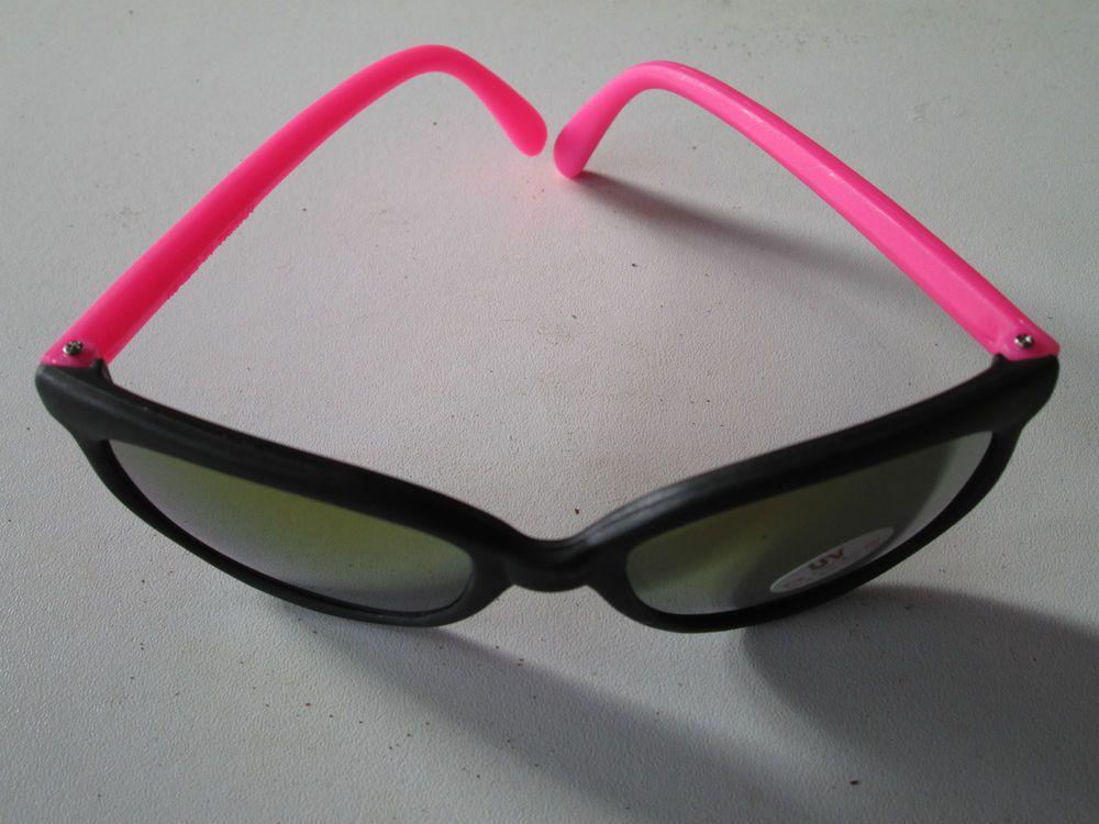 1 Fluro Sonnenbrille rosa verspiegelt Stil Goa Nerdbrille Brille neu UV