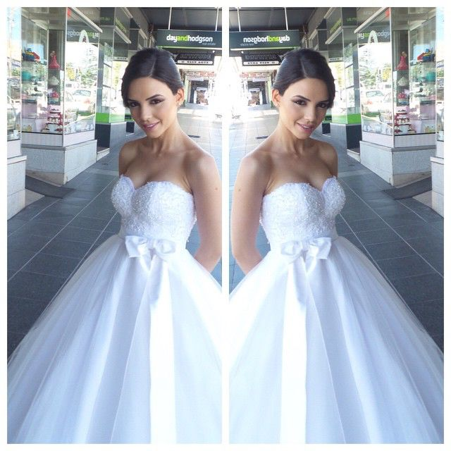A Beautiful Personalised Weddings Couture Gown Modelled