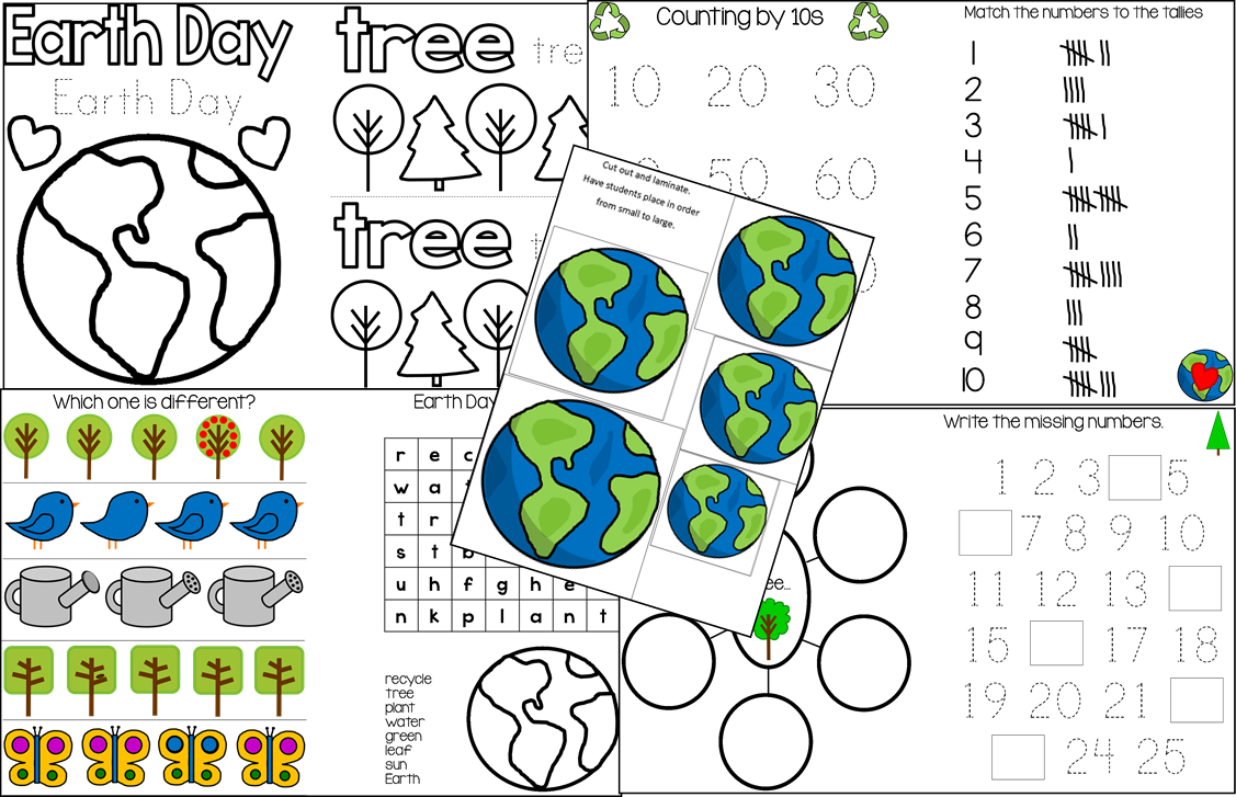 the intentional momma earth day printable unit for pre k and environmental education. Black Bedroom Furniture Sets. Home Design Ideas