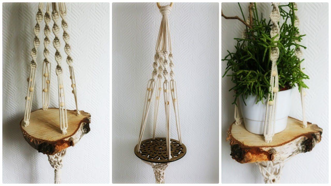 makramee blumenampel 3 diy macrame plant hanger eng sub diys crafts. Black Bedroom Furniture Sets. Home Design Ideas