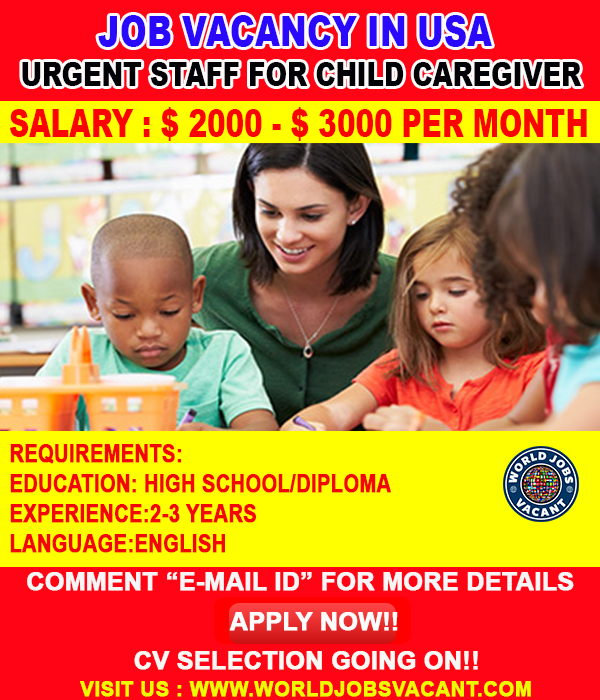 Caregiver Wanted In Usa Caregiver Education Work Opportunities