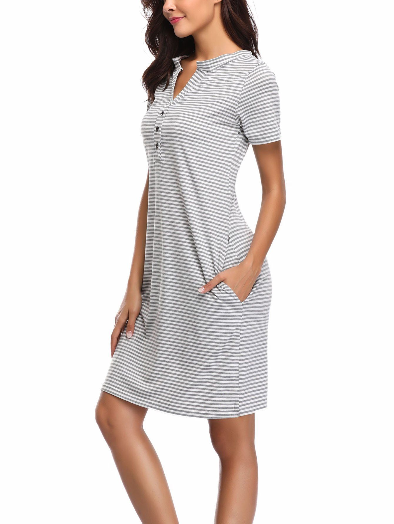 db9776ea64ba2 nursing tops - WOAIVOOU Womens Maternity Dress Short Sleeve Nursing  Nightgown for Breastfeeding Sleepwear *** Be sure to check out this  outstanding product.