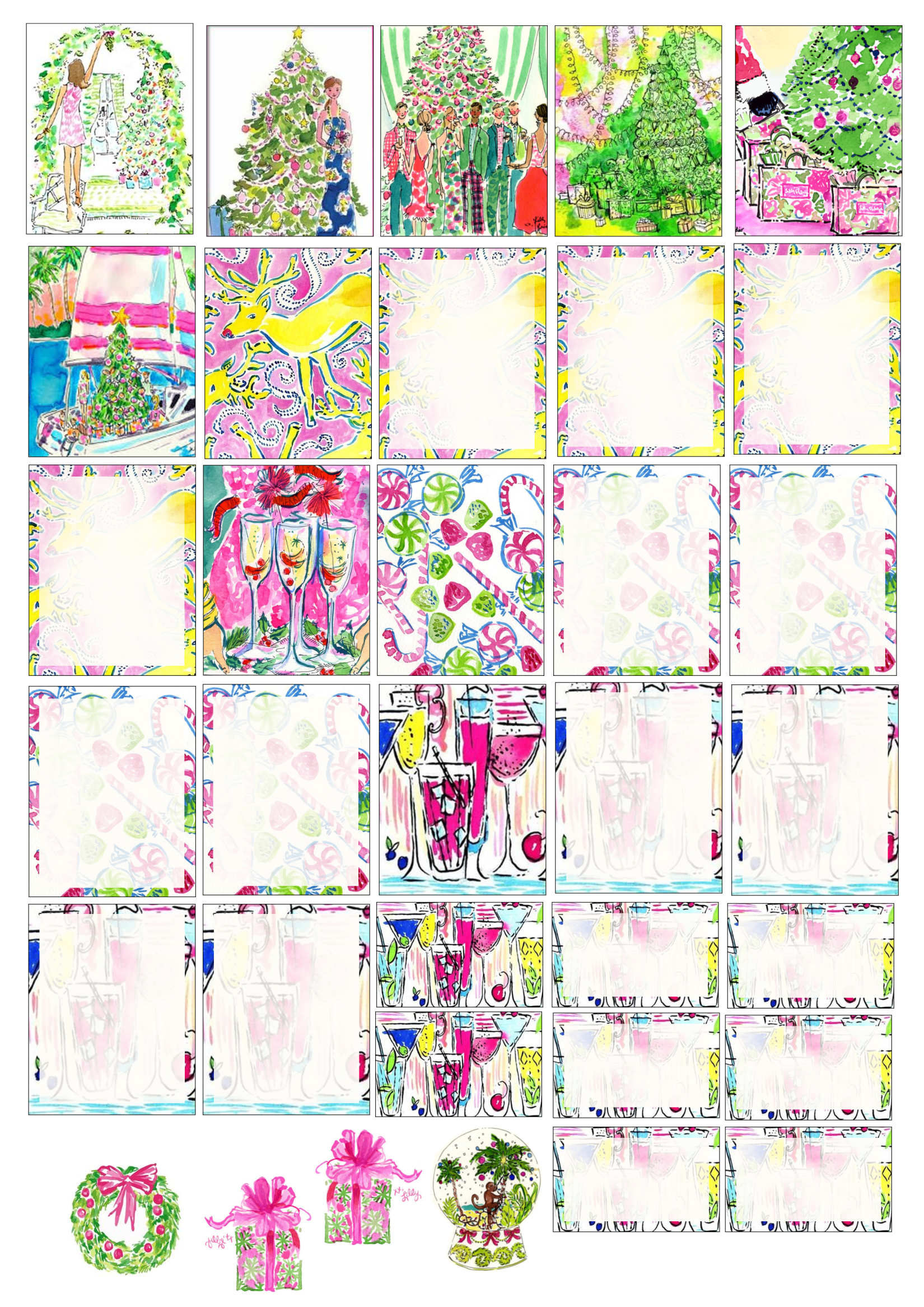 lilly pulitzer inspired christmas – erin condren free printable