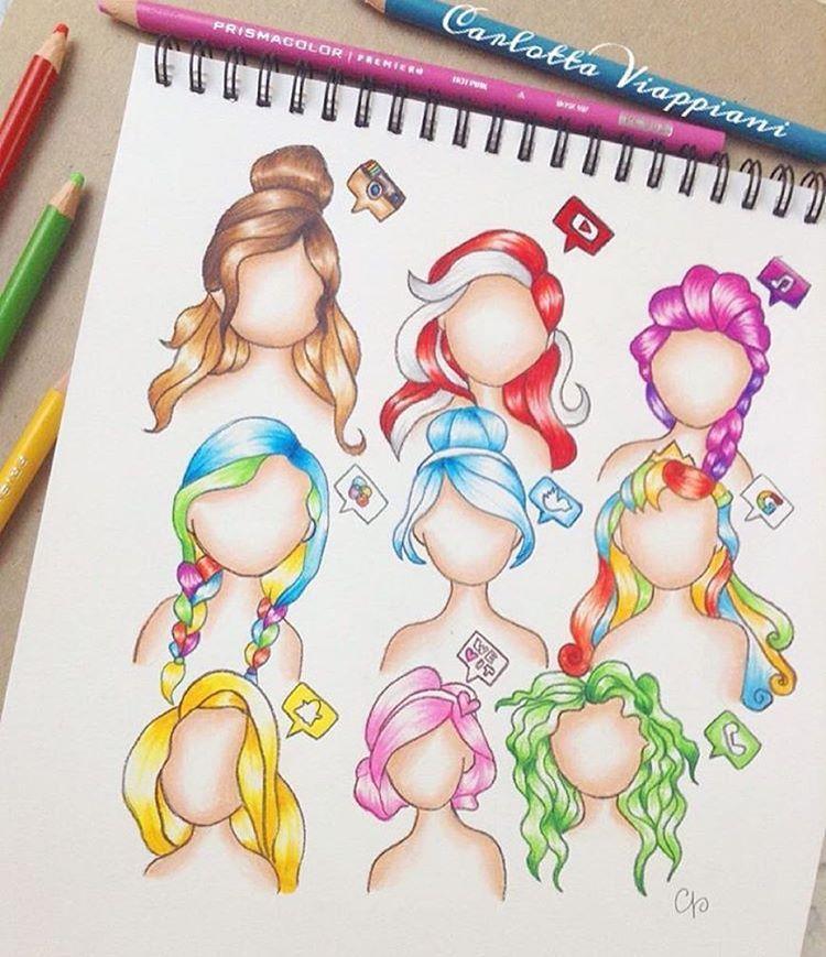 Frisuren Zeichnen, Haare