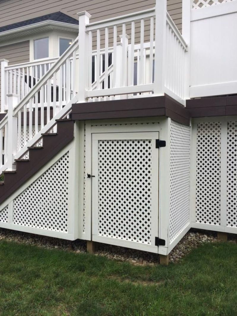 Deck Skirting Ideas If Your Deck Or Veranda Is Elevated Even A Little Above Quality Degree It S Ideal To Polish Off Deck Skirting Building A Deck Diy Deck